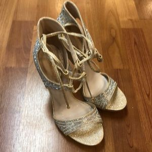 Bella Luna high heels with champagne sequins